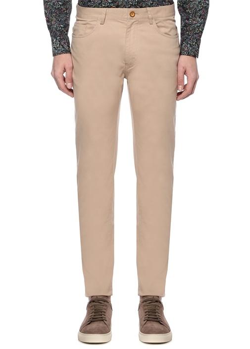 Bej Normal Bel Dar Paça Spor Pantolon