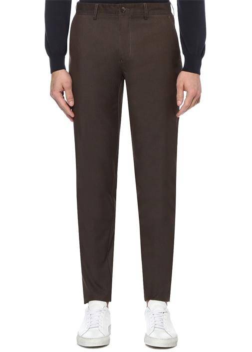 Kahverengi Normal Bel Çizgili Spor Pantolon