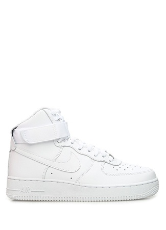 Nike Kadın Air Force High Beyaz Deri Sneaker 38 EU