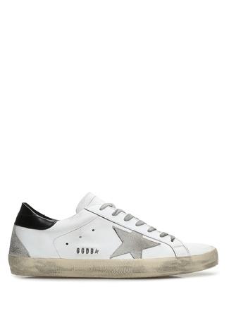 Golden Goose Erkek Superstar Beyaz Deri Sneaker 44 EU male