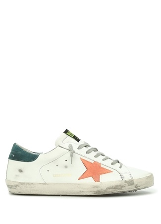 Golden Goose Erkek Superstar Beyaz Deri Sneaker 42 EU male