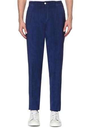 Marco Pescarolo Erkek Chiaia Mavi Bağcıklı Yün Pantolon 50 IT male