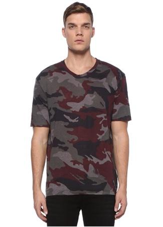 Zadig&Voltaire Erkek Tommy Haki Kamuflaj Desenli Keten BasicT-shirt S EU male
