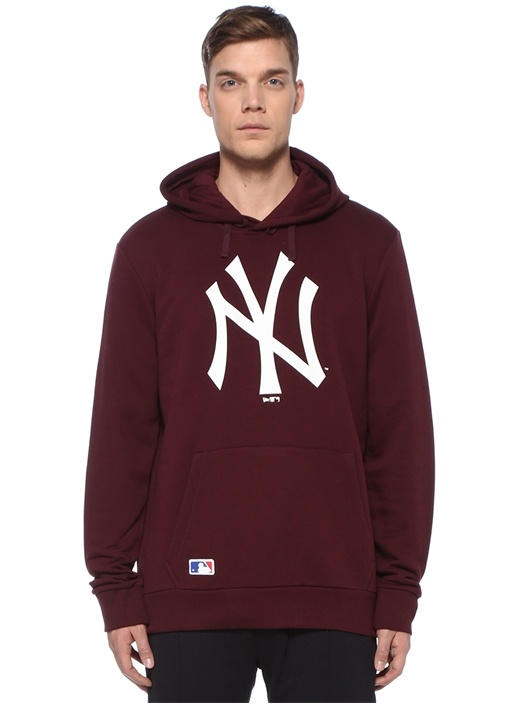 Team Logo Bordo Kapüşonlu Sweatshirt