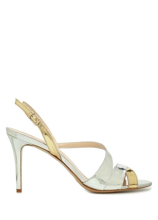 Silver Gold Bant Detaylı Kadın Deri Sandalet