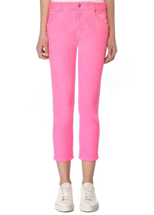 Cool Girl Pembe Crop Jean Pantolon