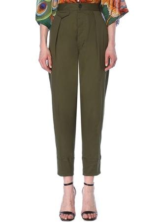 Dsquared2 Kadın Haki Yüksek Bel Kargo Pantolon Yeşil 40 IT female