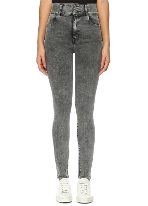 Elsa Saturday Gri Yüksek Bel Skinny Jean Pantolon