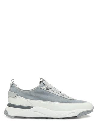 Santoni Sport Erkek Gri Deri Sneaker UK male 11