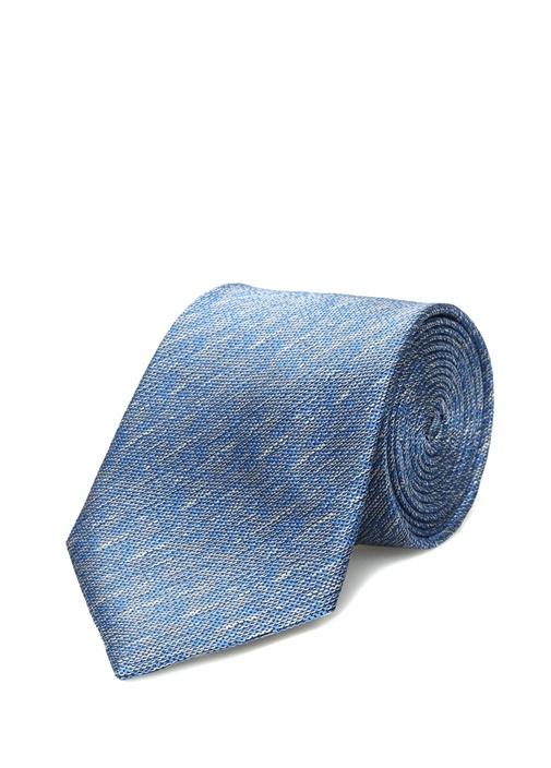 Mavi Muline Görünümlü Kravat