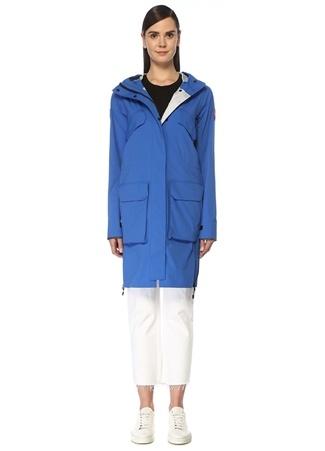 Canada Goose Kadın Seabord Lacivert Kapüşonlu Logolu Mont Mavi M EU