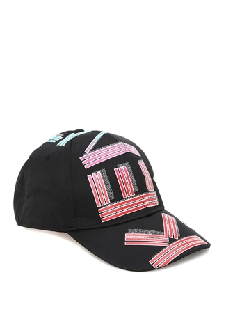 Kenzo Kadın Siyah Logo Baskılı Şapka EU female Standart