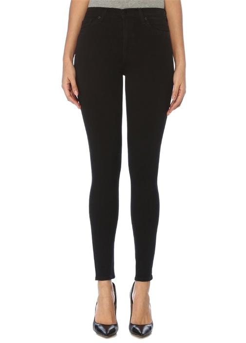 Siyah Yüksek Bel Super Skinny Jean Pantolon