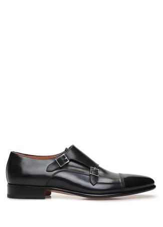 Santoni Erkek Lacivert Kemer Detaylı Deri Ayakkabı US male 11