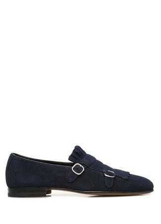 Santoni Erkek Lacivert Püskül Detaylı Süet Ayakkabı 6 US male