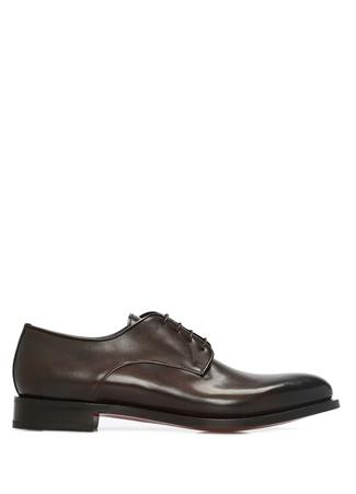 Santoni Erkek Kahverengi Deri Ayakkabı 8 US male