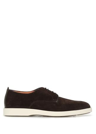Santoni Erkek Kahverengi Süet Ayakkabı 9.5 US male