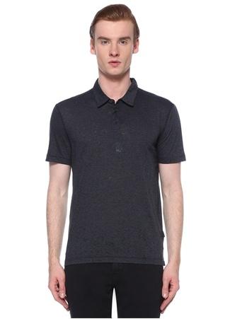 John Varvatos Star USA Erkek Lacivert Siyah Polo Yaka Çizgi Desenli T-shirt M EU male