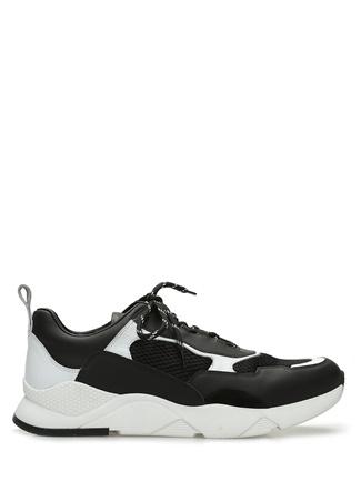 Beymen Collection Erkek Siyah Beyaz File Doku Detaylı Deri Sneaker 43 male
