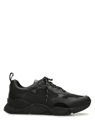 Beymen Collection Erkek Siyah File Doku Detaylı Deri Sneaker 43 male