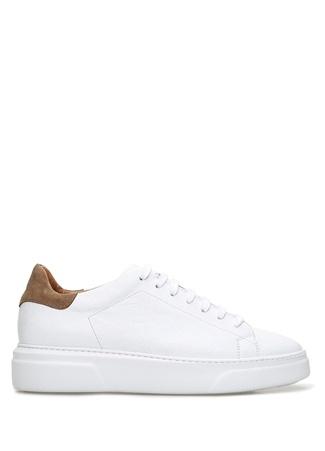 Beymen Collection Erkek Beyaz Deri Sneaker 44 male
