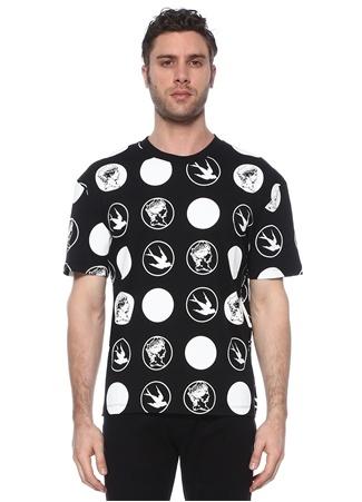 McQ Alexander McQueen Erkek Siyah Logo Baskılı T-shirt EU male