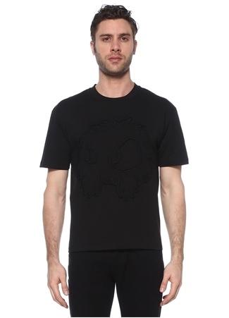 McQ Alexander McQueen Erkek Siyah Nakış Detaylı T-shirt EU male