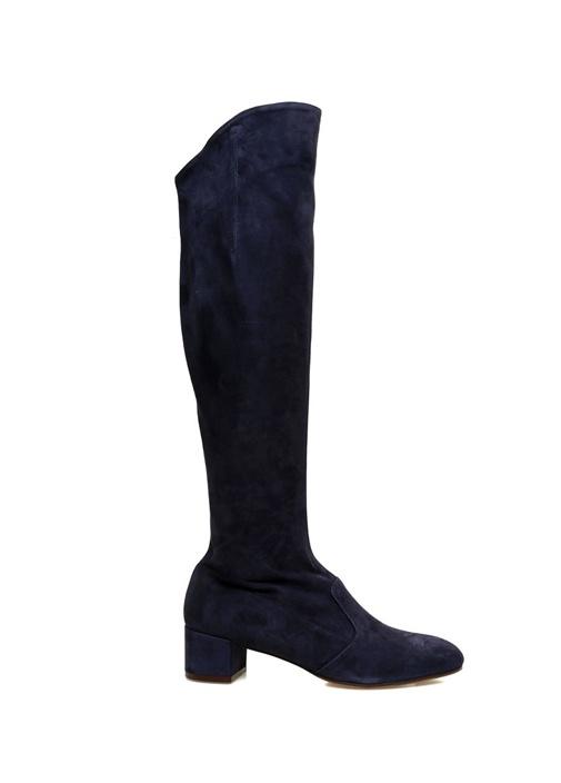 Lacivert Kadın Süet Çizme