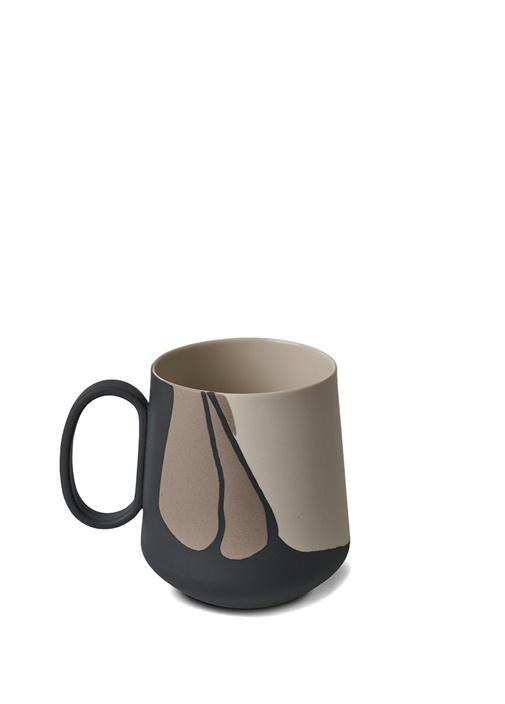 Tube Desenli El Yapımı Porselen Kupa