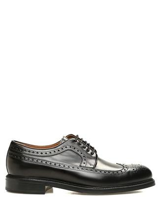 Berwick 707 Erkek Siyah Kesim Detaylı Deri Ayakkabı UK 1707 male 11