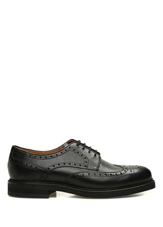 Berwick 707 Erkek Siyah Kesim Detaylı Deri Ayakkabı 9.5 UK 1707 male