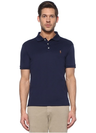 Polo Ralph Lauren Erkek Slim Fit Lacivert Yaka Logolu T-shirt EU male