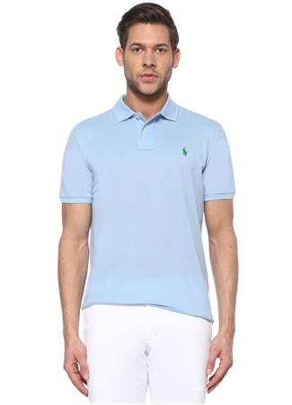 Polo Ralph Lauren Erkek Custom Slim Fit Mavi Logolu Yaka T-shirt EU male