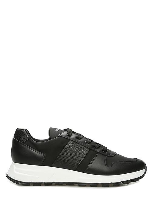 Siyah Şeritli Logolu Erkek Sneaker