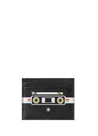 Montblanc Unisex Meisterstück Siyah Radyo Baskılı Deri Kartlık EU unisex Standart
