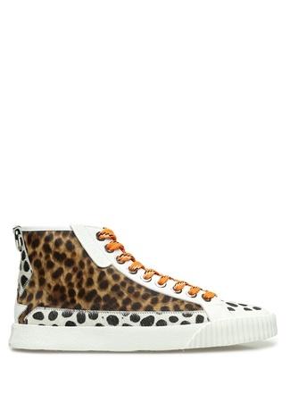 Jimmy Choo Kadın Impala Colorblocked Karışık Desenli Sneaker Kahverengi 38 EU female
