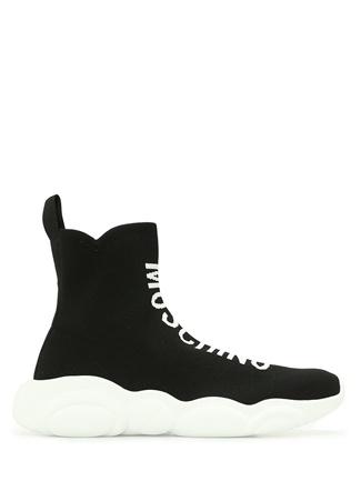 Moschino Kadın Siyah Beyaz Logolu Çorap Formlu Sneaker 36 EU female