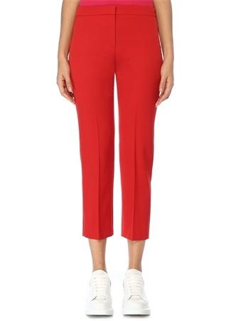 Kırmızı Yün Cigarette Pantolon