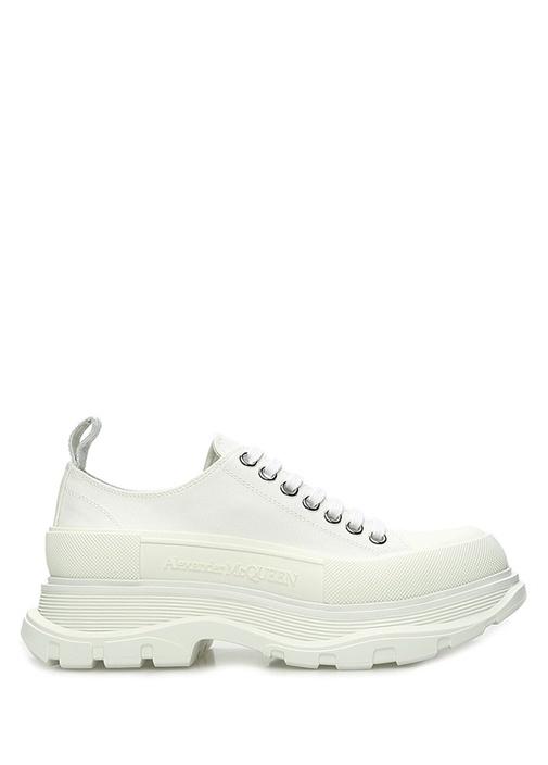 Beyaz Logo Detaylı Kadın Sneaker