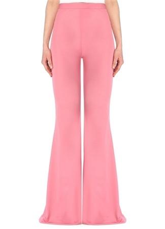 Balmain Kadın Pembe Yüksek Bel Bol Paça Pantolon 38 FR female