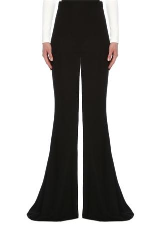 Balmain Kadın Siyah Yüksek Bel Bol Paça Pantolon 34 FR female