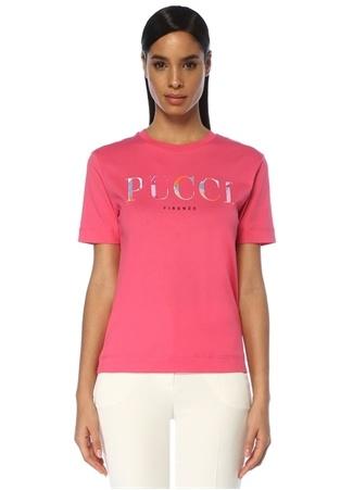 Emilio Pucci Kadın Pembe Logo Baskılı T-shirt S EU female
