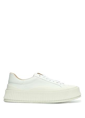 Jil Sander Kadın Beyaz Kalın Tabanlı Deri Sneaker 4 EU female 41