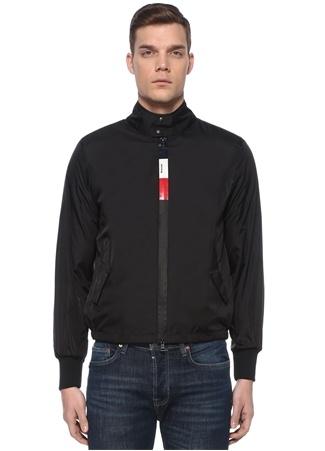 Moncler Erkek Wimereux Siyah Logo Baskılı Mont US male 1