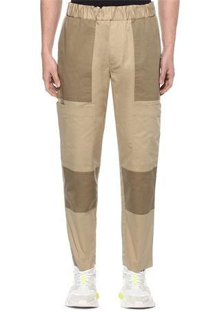 Moncler Erkek Bej Vizon Boru Paça Logolu Pantolon 50 IT male