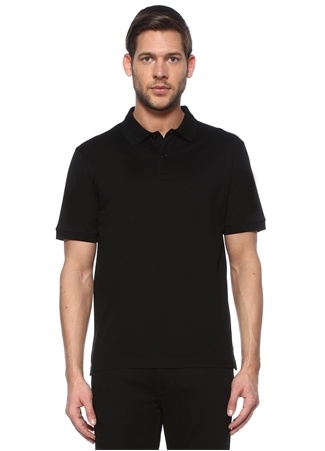 Bottega Veneta Erkek Siyah Polo Yaka T-shirt 52 IT male