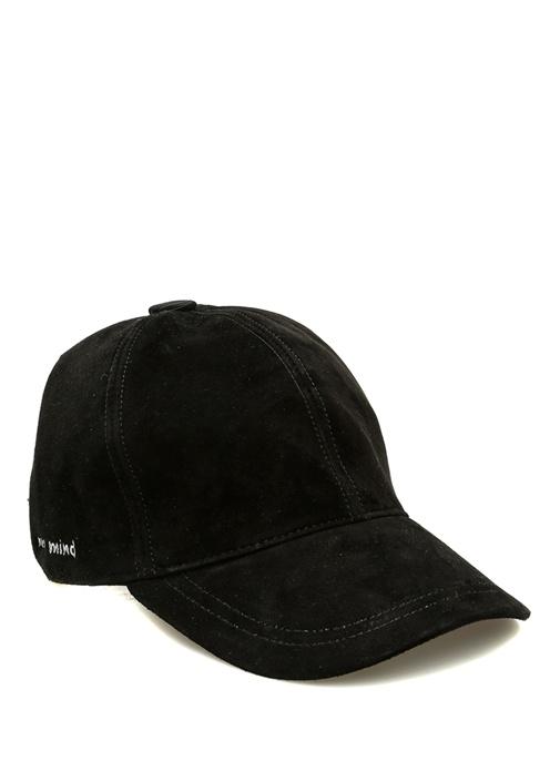 Never Mind Nakışlı Siyah Kadın Süet Şapka