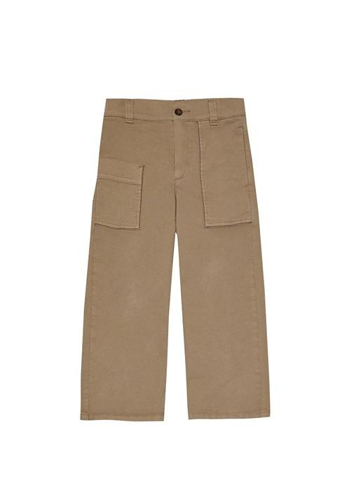 Kamel Kargo Cep Detaylı Kız Çocuk Pantolon