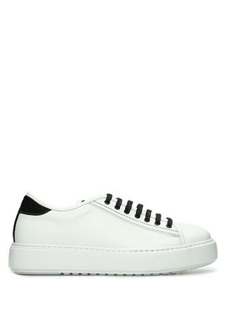 Academia Erkek Essential Siyah Beyaz Deri Sneaker 44 male