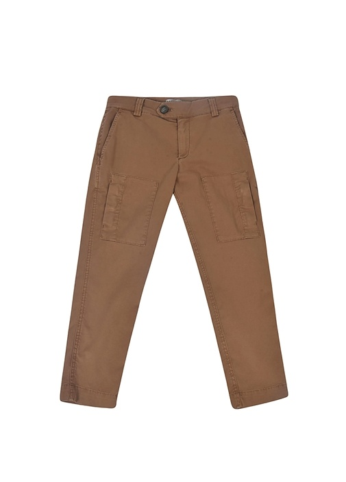 Pima Cotton Kahverengi Erkek Çocuk Pantolon